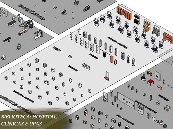 famílias de hospital para revit baixar