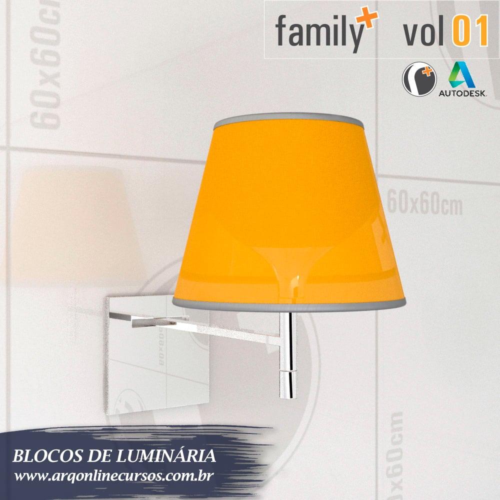 famílias de luminária para revit amarela