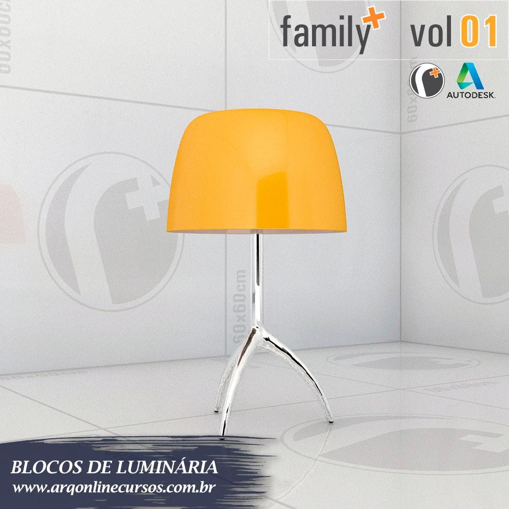 famílias de luminária para revit centralizada