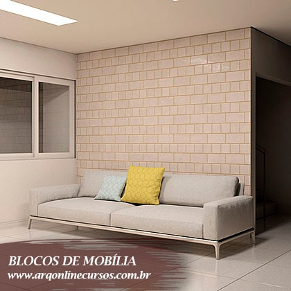 famílias de mobília para revit sofá branco e amarelo
