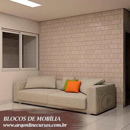 famílias de mobília sofá branco com almofada laranja