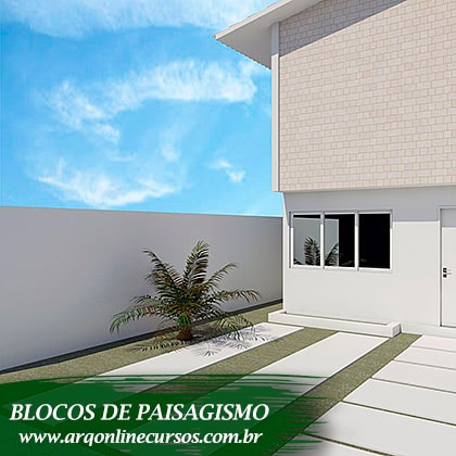 famílias de paisagismo para revit render arbusto parede branca