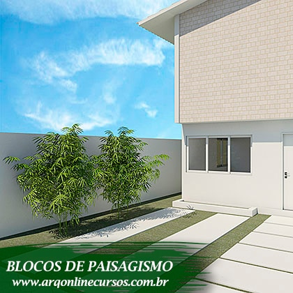famílias de paisagismo para revit planta render parede