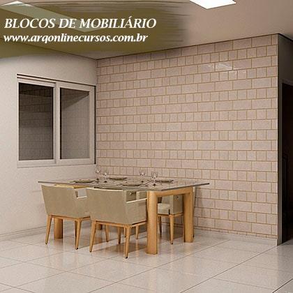 famílias para revit de mobiliário mesa renderizada