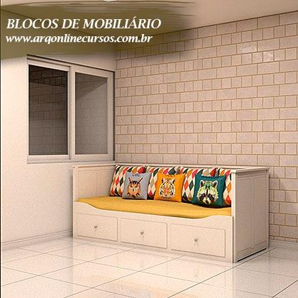 famílias para revit de mobiliário sofá lugares