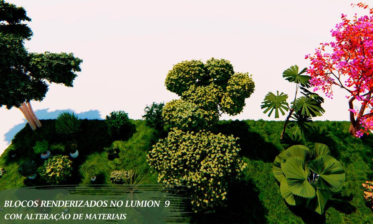 vegetação renderizada lumion