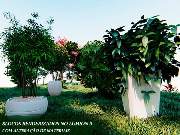 conjunto de vegetação importado para lumion