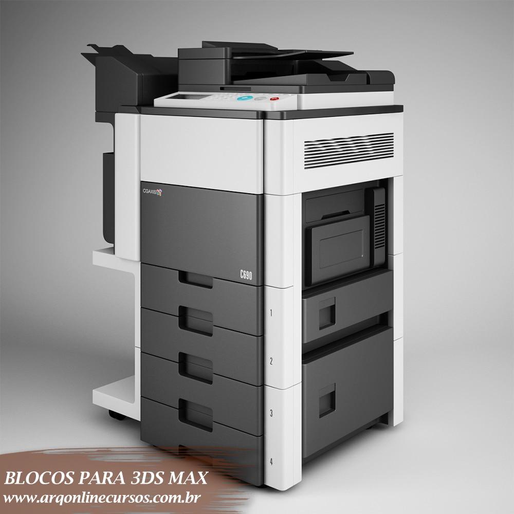 bloco impressora multilaser 3ds max