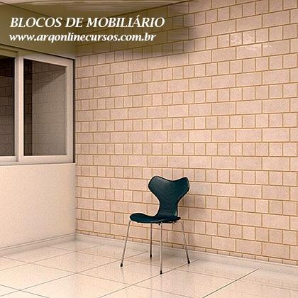 pacote de blocos de mobiliário para revit cadeira luxuosa verde