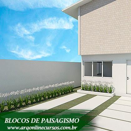pacote de blocos de paisagismo plantinhas pequenas