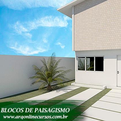 pacote de blocos de paisagismo exemplo planta