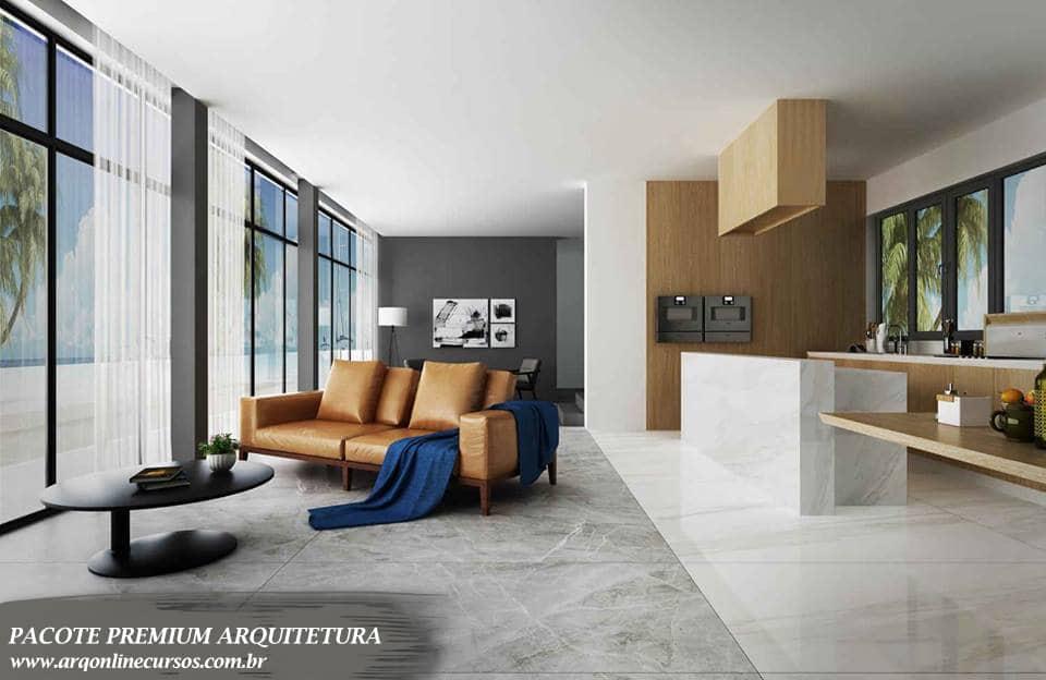 pacote premium formação em arquitetura textura vray