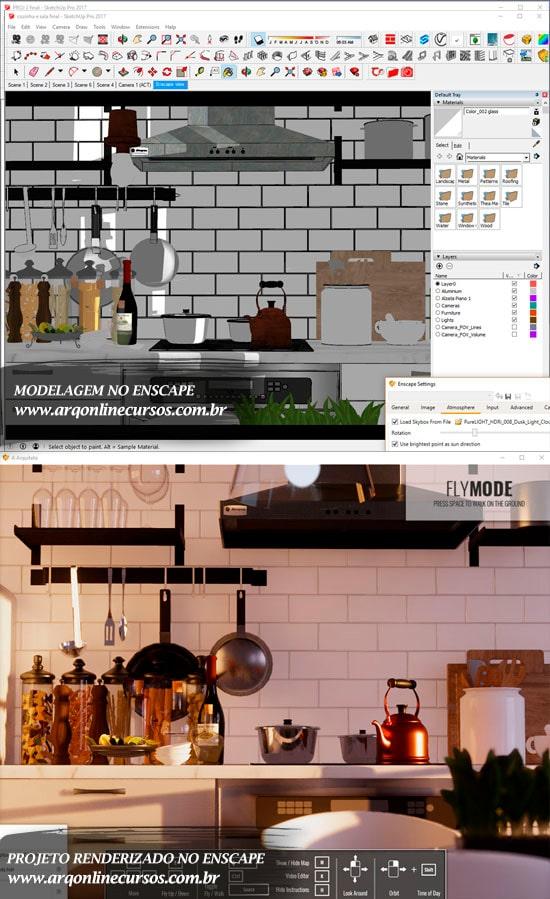 projeto cozinha plugin sketchup