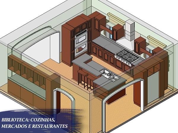 projeto de cozinha renderizada para revit