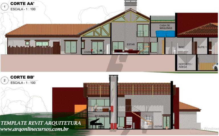 template arquitetura para revit demonstrativo