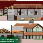 template arquitetura para revit frente casa