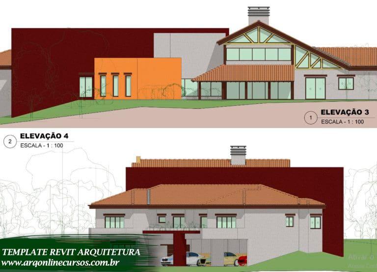 template para revit arquitetura planta baixa