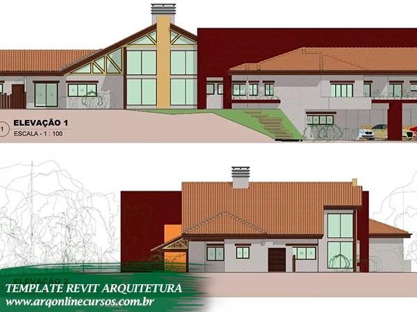 template para revit arquitetura fachada