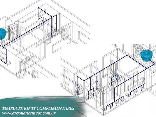 template revit complementares famílias hidráulica