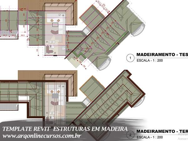 template revit estruturas em madeira folha a4