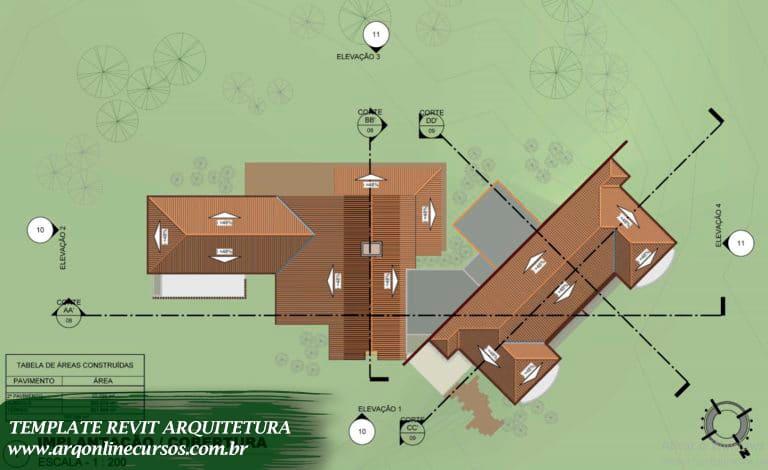 template revit soluções em arquitetura 3d cima