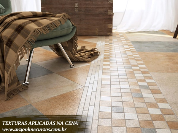 textura piso madeira quadriculada