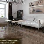 textura reflexo piso madeira
