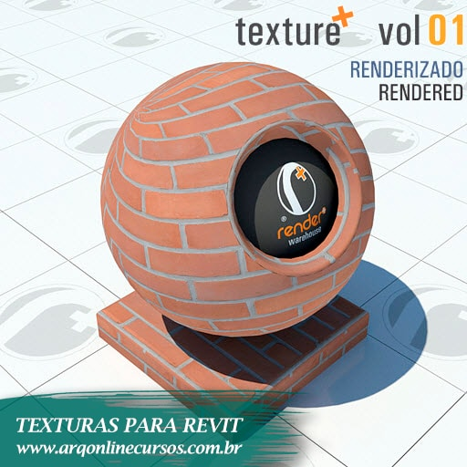 textura tijolo aparente para revit