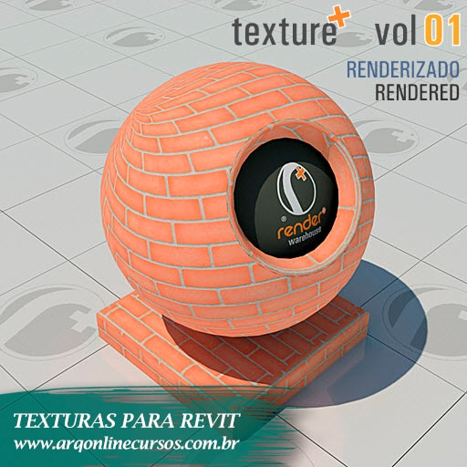 textura tijolo furado para revit