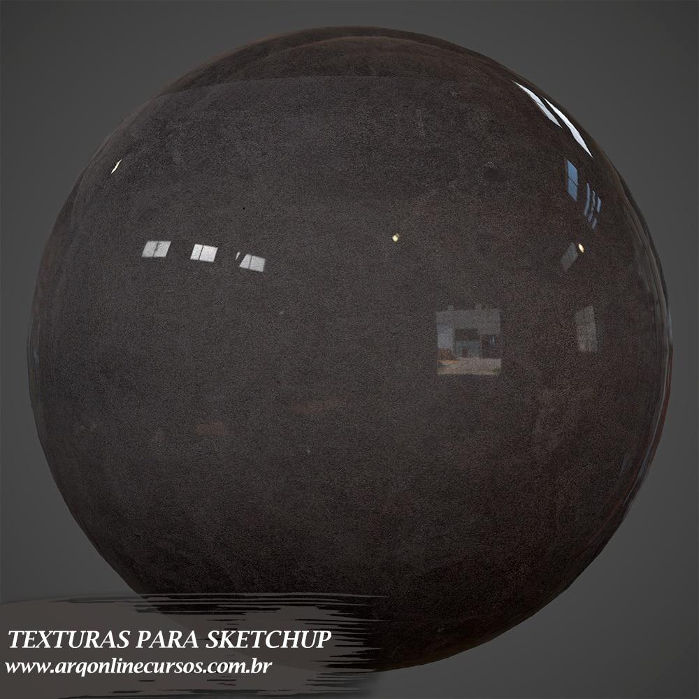 textura de vidro preto para vray