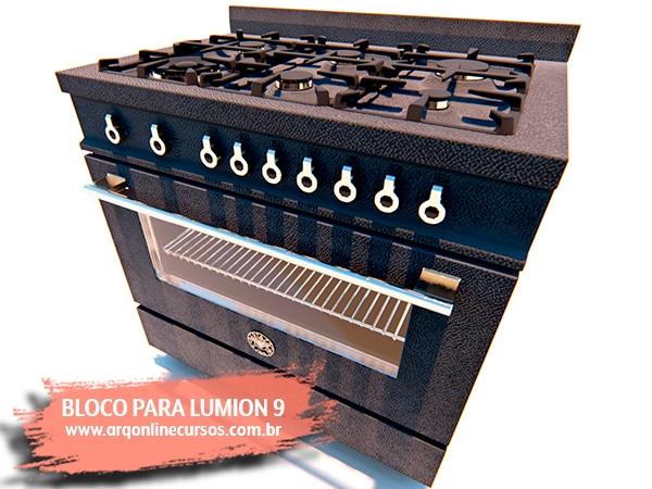 bloco fogão lumion