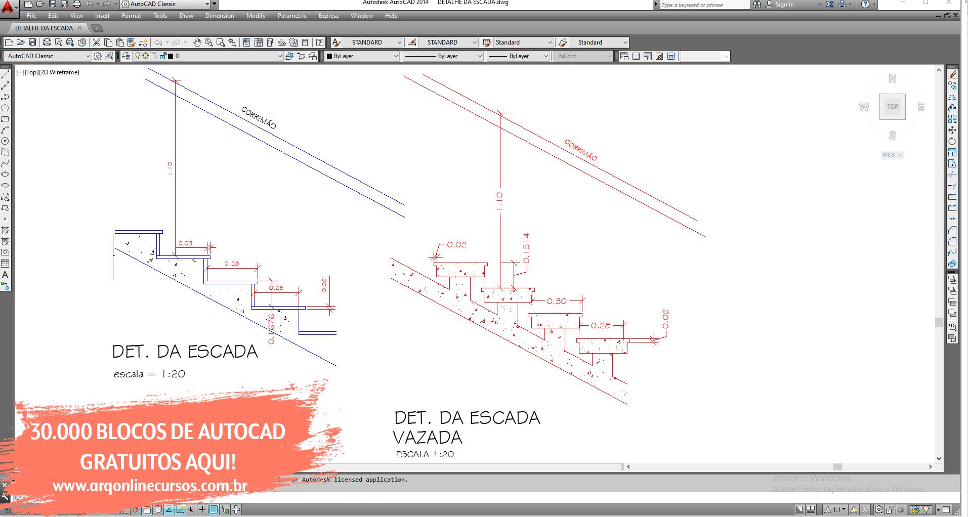 download blocos de autocad detalhamento escada