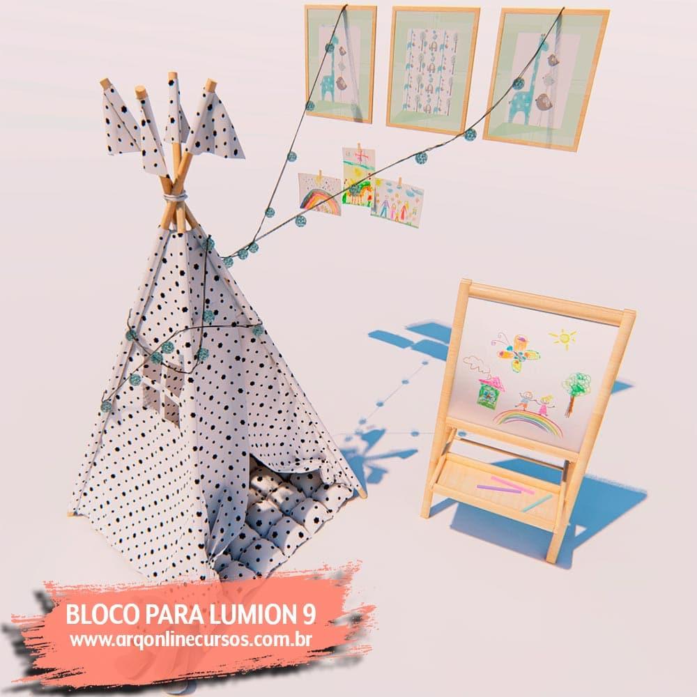 blocos de lumion cabana de criança