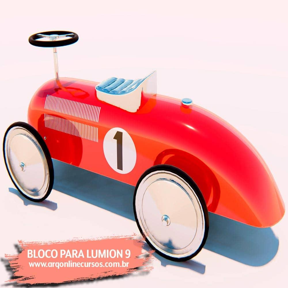 blocos de lumion carro render brinquedo