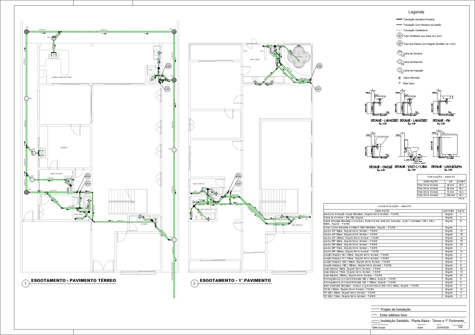 compatibilização de projetos no revit 2020 hidrossanitário