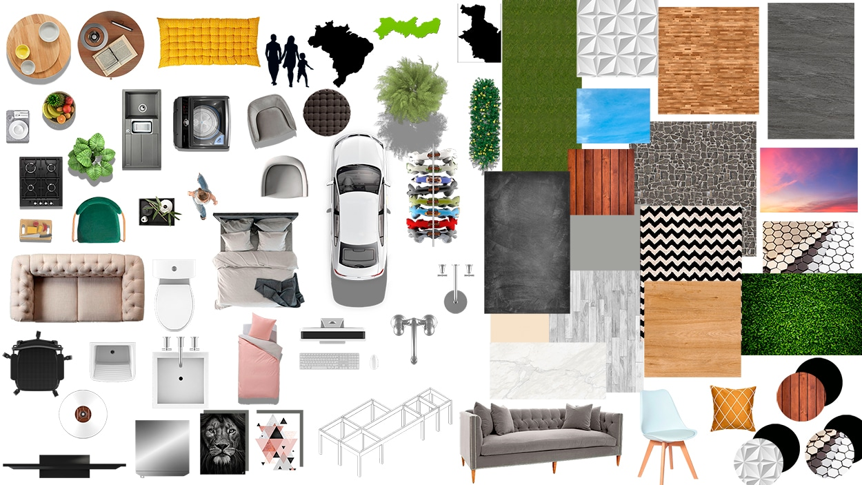 diagramação em photoshop galeria de blocos