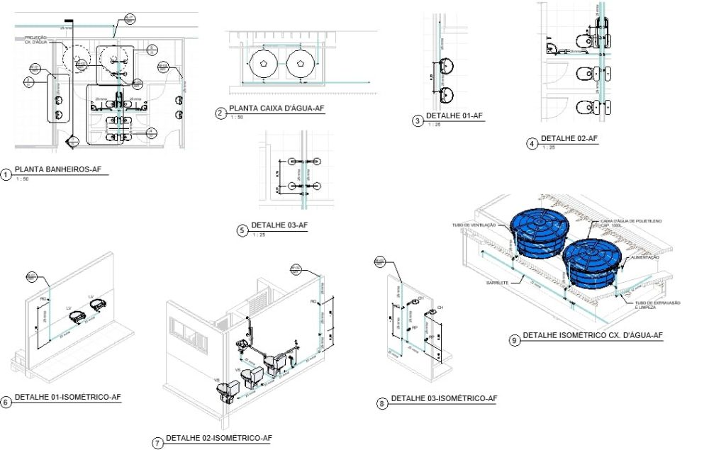 isometria projetos dwg para autocad