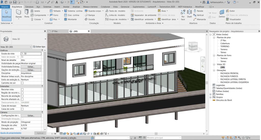 arquitetura projetos revit