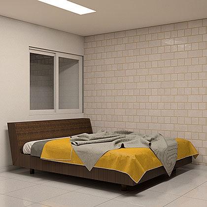 blocos de cama para revit casal amarelo madeira