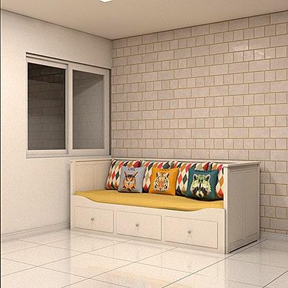 blocos de cama para revit criança