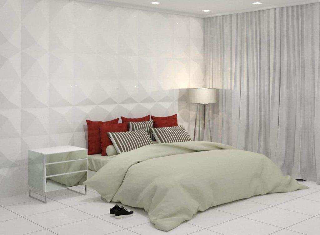 download famílias de cama para revit casal render vermelha