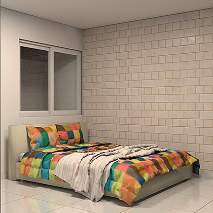 famílias de cama para revit cores diversas