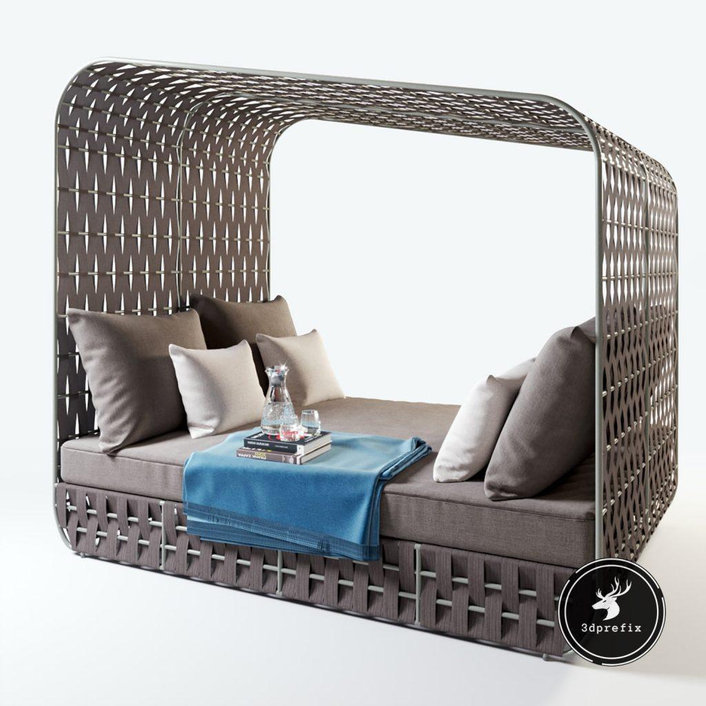20 blocos de cama sketchup cinza