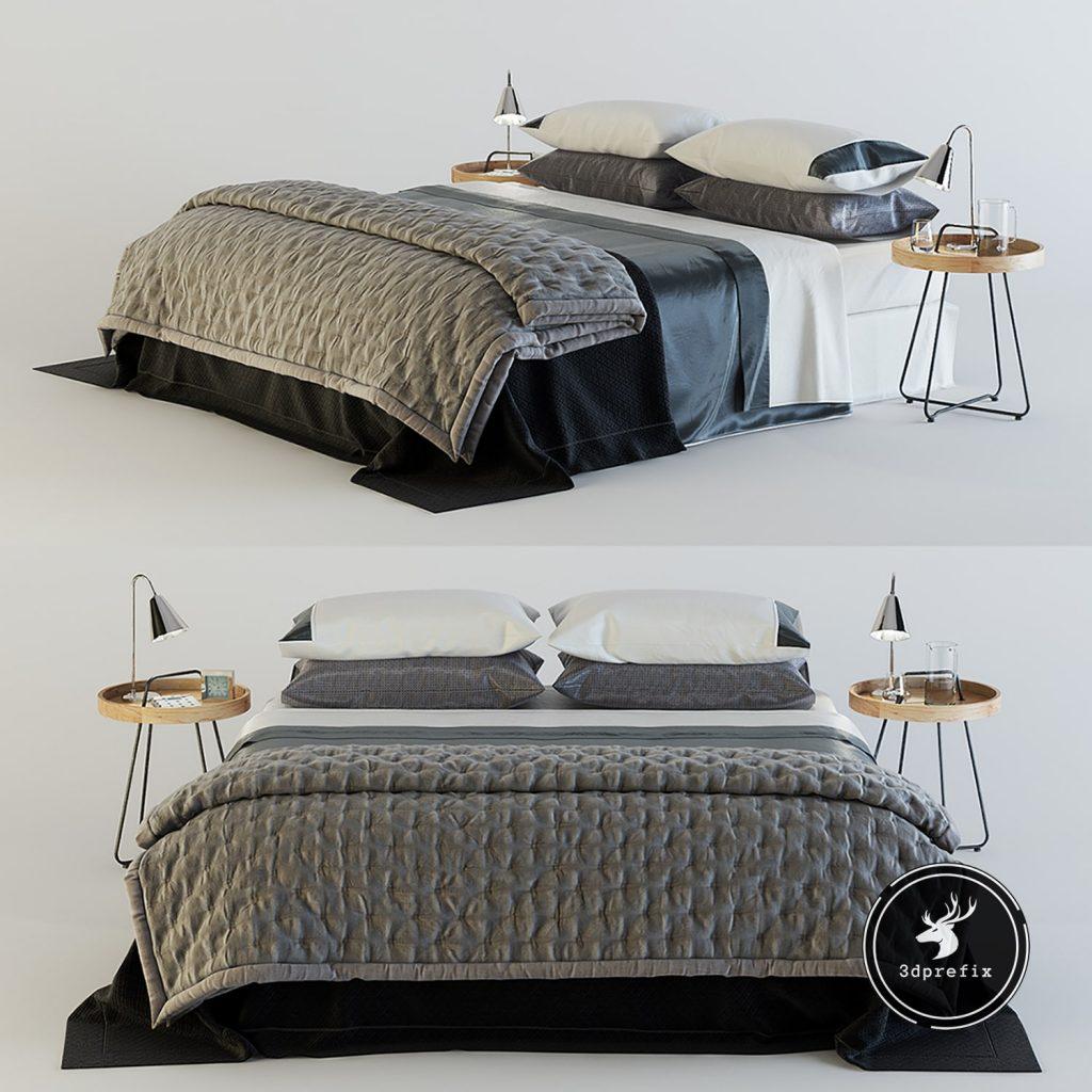 blocos de cama para sketchup render 1