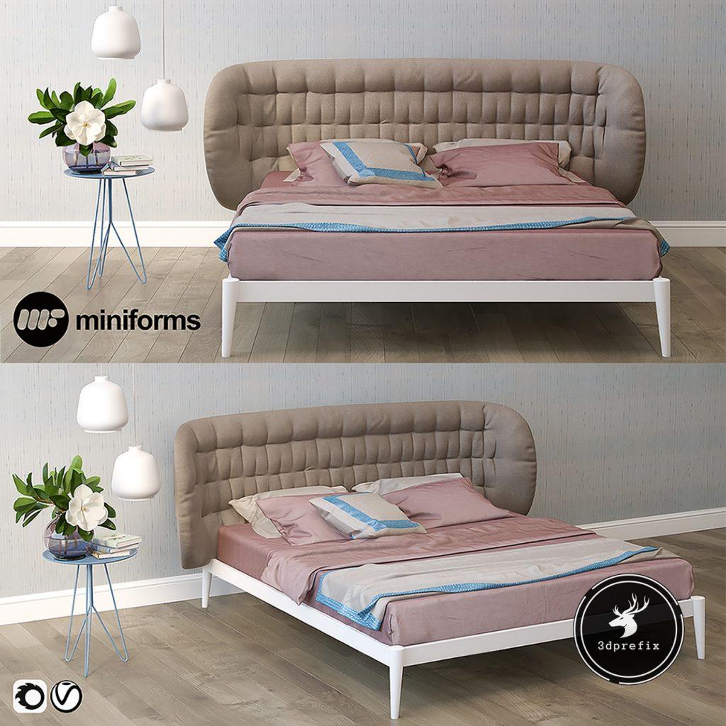 blocos de cama para sketchup rosa
