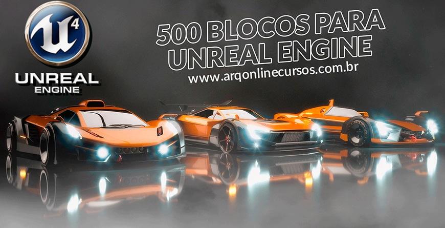 blocos de unreal engine gratuitos para baixar carros